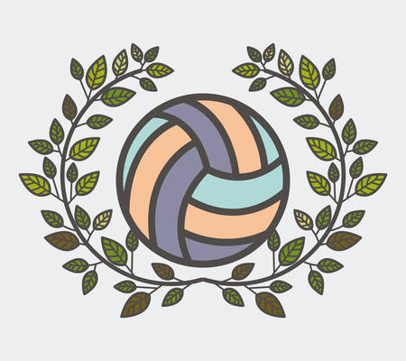 balon de voley: fitness lifestyle design, vector illustration graphic Vectores