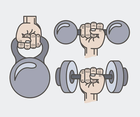 hand lifting weight: fitness lifestyle design, vector illustration graphic Illustration