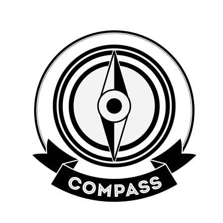 black compass concept over white background design, vector illustration eps 10 Illustration