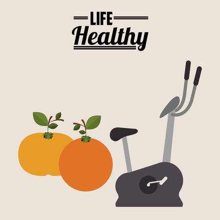 spinning: life healthy design, vector illustration  graphic Illustration