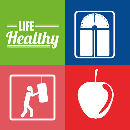 health and wellness: life healthy design, vector illustration graphic