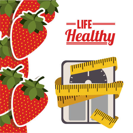 weight scales: life healthy design, vector illustration graphic