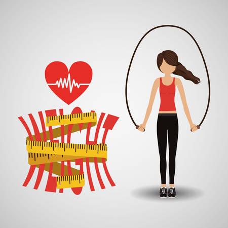 lose weight design, vector illustration   graphic Illustration