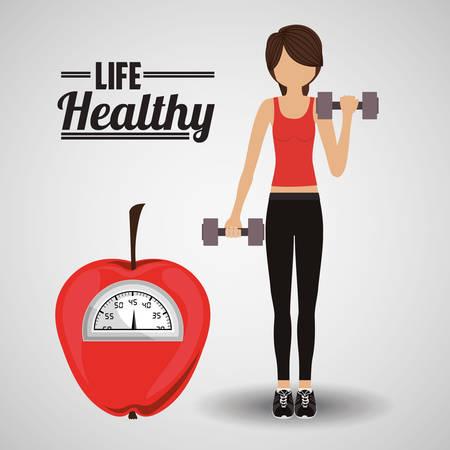 simbolo de la mujer: life healthy design, vector illustration   graphic Vectores