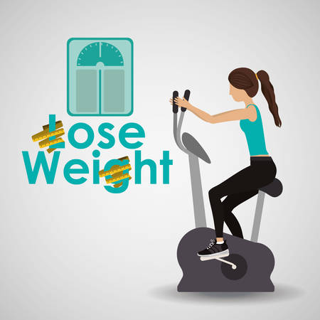 lose weight: lose weight design, vector illustration   graphic Illustration