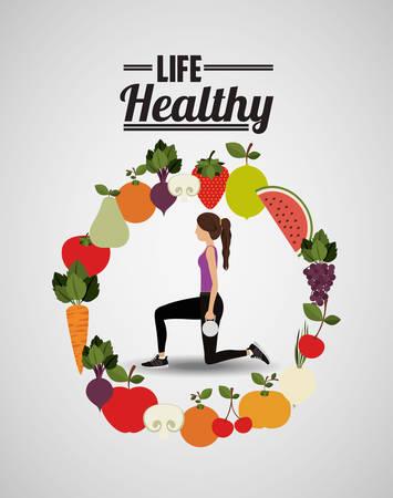 watermelon woman: life healthy design, vector illustration   graphic Illustration