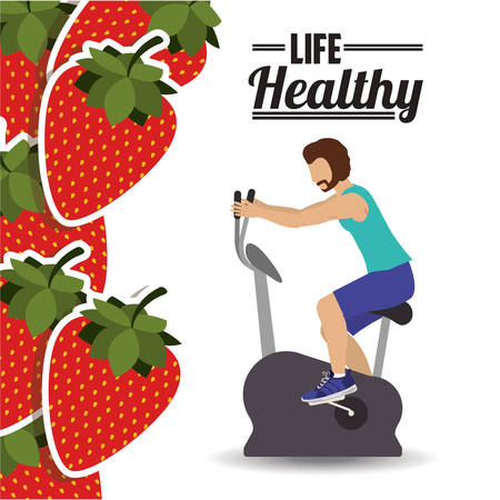 spinning: life health design, vector illustration  graphic