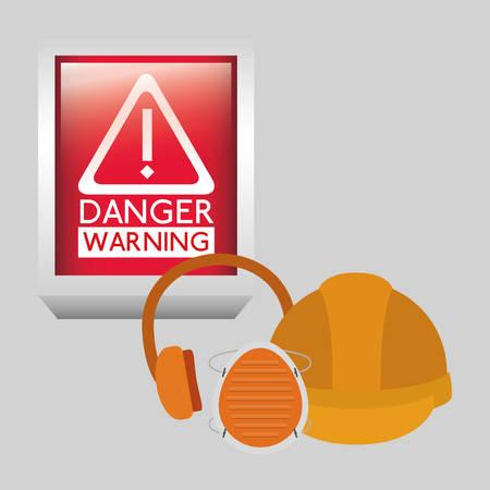 ear protection: danger warning design, vector illustration graphic Illustration