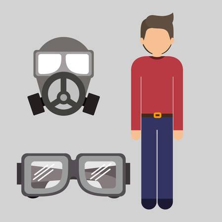 diseño de seguridad industrial, ilustración vectorial gráfico Ilustración de vector