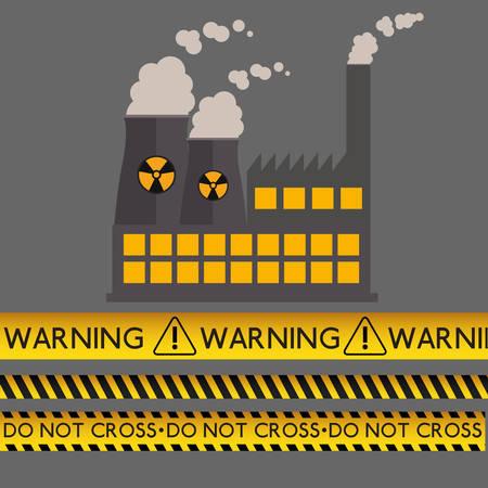 alert ribbon: danger warning design, vector illustration graphic Illustration