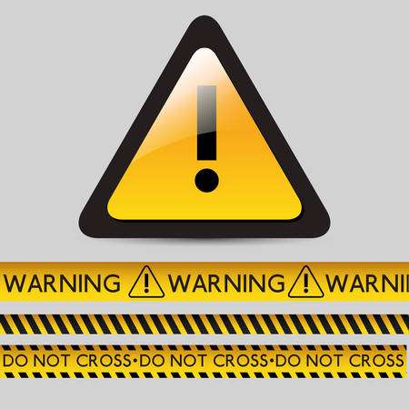 danger warning design, vector illustration graphic Illustration