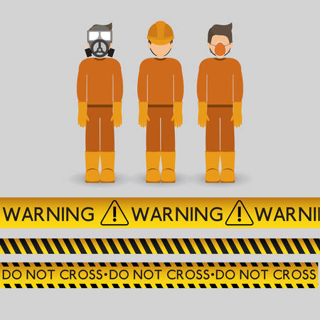 danger warning design, vector illustration graphic