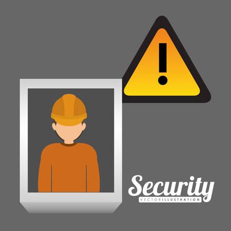 seguridad industrial: diseño de seguridad industrial, ilustración vectorial gráfico Vectores