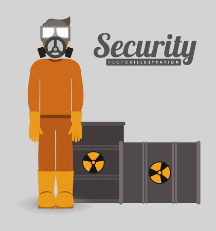 industrial security: diseño de seguridad industrial, ilustración vectorial gráfico Vectores