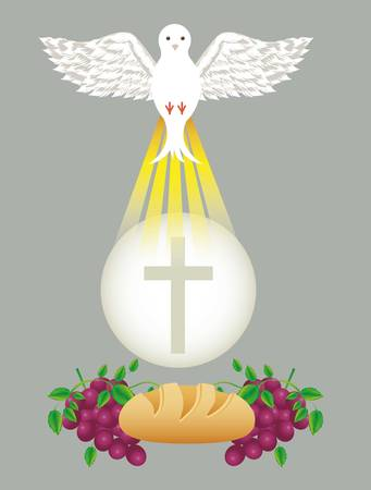 religion catholique: catholic religion design, vector illustration graphic Illustration