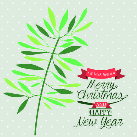 the inscription: happy merry christmas design, vector illustration eps10 graphic