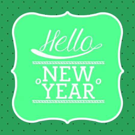 hello new year design, vector illustration eps10 graphic