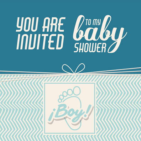 baby footprint: baby shower invitation design, vector illustration eps10 graphic