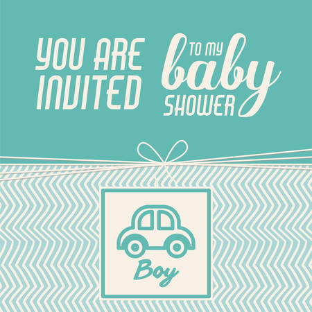 baby boy announcement: baby shower invitation design, vector illustration eps10 graphic