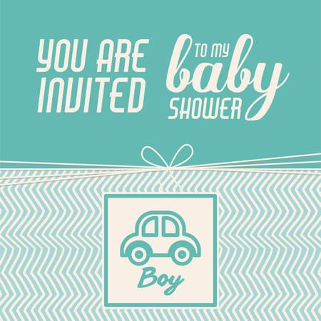 invitacion baby shower: beb� dise�o de invitaci�n de la ducha, ilustraci�n vectorial gr�fico eps10 Vectores