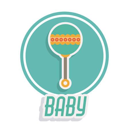 baby shower: baby shower invitation design, vector illustration eps10 graphic
