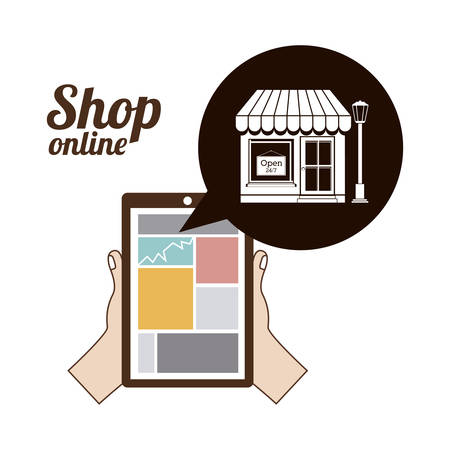 commercie: commerce  on line design, vector illustration eps10 graphic