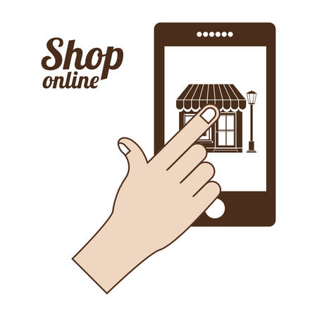 retail place: commerce  on line design, vector illustration eps10 graphic