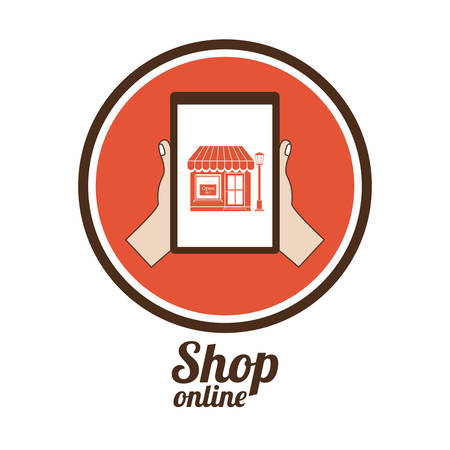 retail place: commerce  on line design, vector illustration eps10 graphic