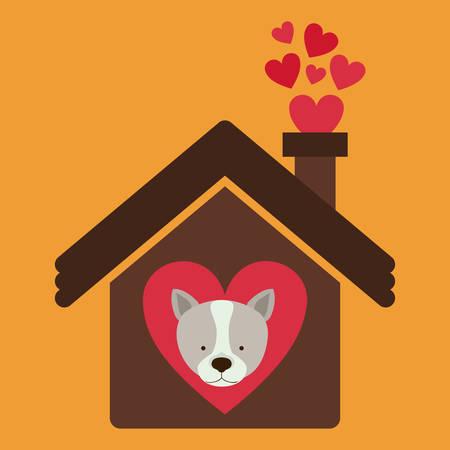 silhouette maison: animal conception de chien, vecteur illustration graphique eps10