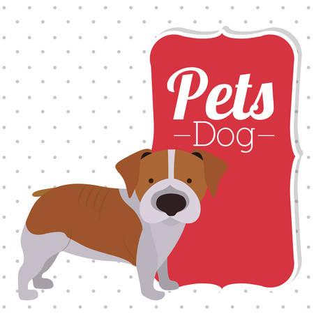 pet dog design, vector illustration eps10 graphic Illustration