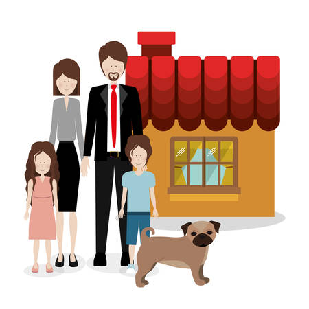 mom and daughter: pet dog design, vector illustration eps10 graphic Illustration