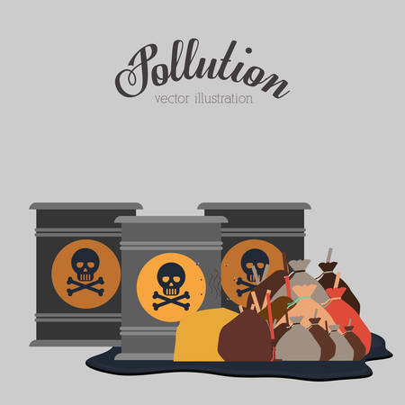 stop global warming: pollution concept design, vector illustration eps10 graphic