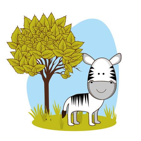 sweet grass: animal cute design, vector illustration eps10 graphic Illustration