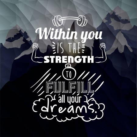 motivational poster message design, vector illustration eps10 graphic