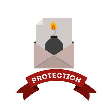virus protection: virus protection design, vector illustration eps10 graphic