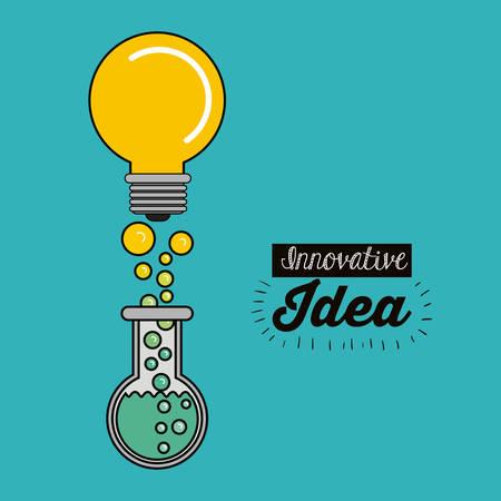 a solution tube: best idea concept design, vector illustration eps10 graphic Illustration
