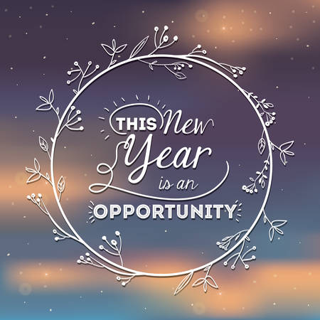 oportunity: motivational message new year design, vector illustration eps10 graphic Illustration