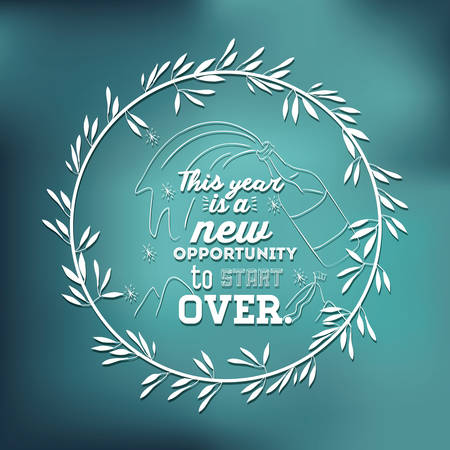 new opportunity: motivational message new year design, vector illustration eps10 graphic Illustration