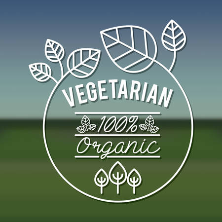 and organic: organic product design, vector illustration eps10 graphic