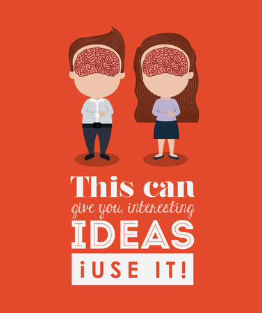it is interesting: human brain design, vector illustration eps10 graphic