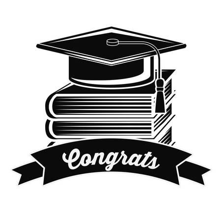 graduacion: mejor diseño de la graduación de clase, ejemplo gráfico del vector eps10