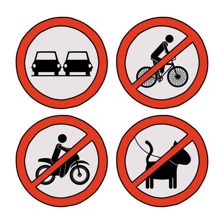 señales trafico: diseño de las señales de tráfico, ilustración vectorial gráfico eps10