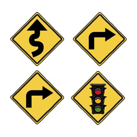 caution: traffic signals design, vector illustration eps10 graphic Illustration