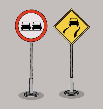 se�ales de transito: traffic signals design, vector illustration eps10 graphic Vectores