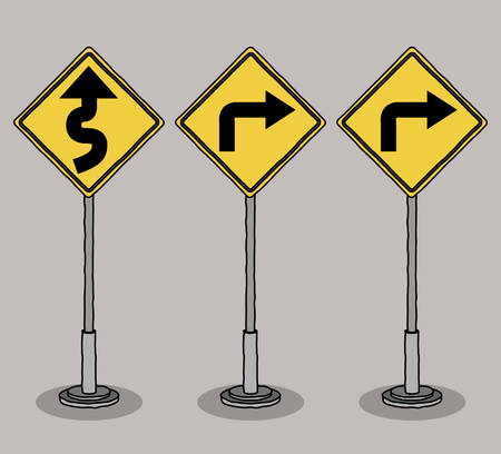 signals: traffic signals design, vector illustration eps10 graphic Illustration