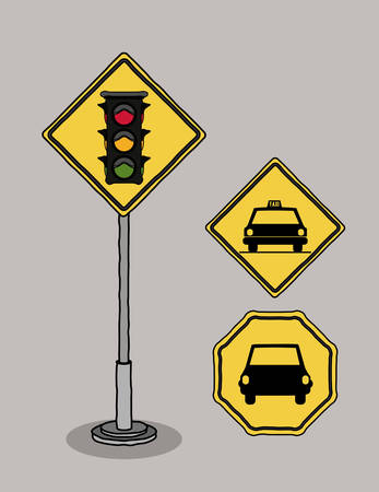 highway signs: traffic signals design, vector illustration eps10 graphic Illustration