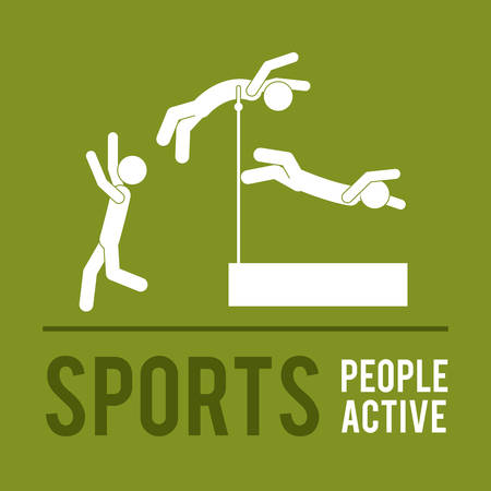 active: people active design, vector illustration eps10 graphic Illustration