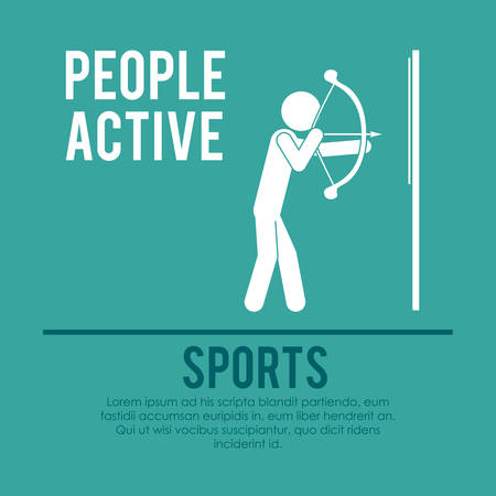 active arrow: people active design, vector illustration eps10 graphic Illustration