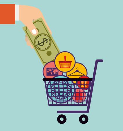 commerce: commerce icons design, vector illustration eps10 graphic
