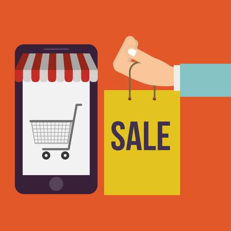commerce: electronic commerce design, vector illustration eps10 graphic